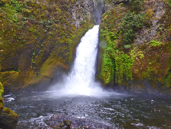 Wahclella Falls along Tanner Creek