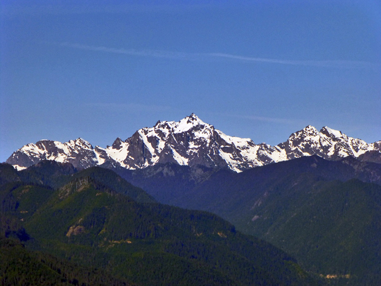 Views of Mount Constance (7,743') from the north summit of Mount Walker